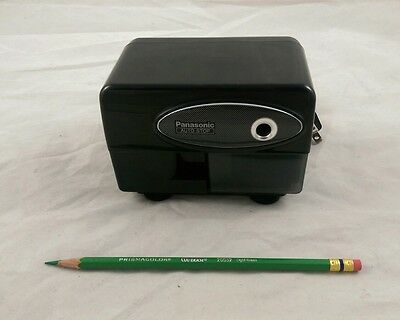 Panasonic KP-310 Electric Pencil Sharpener Black Portable Auto-Stop WORKS VG+