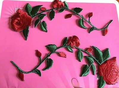 Patch Toppe Rose Rosse Roses