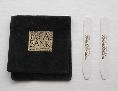 2 Brooks Brothers Collar Stays in Jos. A Bank Cover