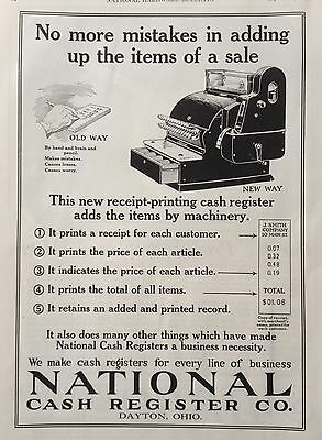 1920 Ad(F19)~National Cash Register Co. Dayton, Ohio. New Printing Machine