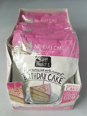 Project 7 Sugar Free Gourmet Gum Birthday Cake Great Tasting Birthday Party 6pk