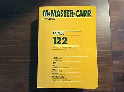 McMaster-Carr Catalog #122 New Jersey 2016  NEW