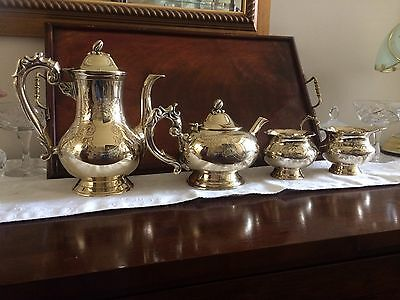 Lovely vintage ornate EPNS Tea/Coffee set 4 piece