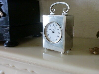 Swiss Solid Silver 8 Day Miniature Carriage  Clock London 1903
