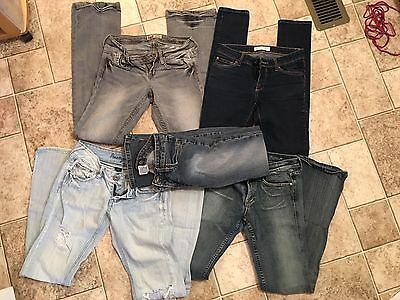 Juniors lot of 5 jeans size 3