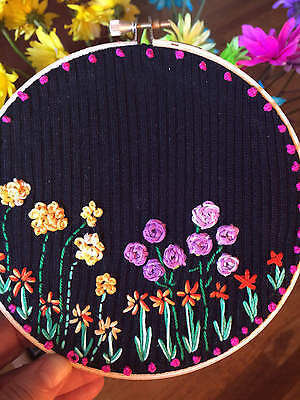 Hand embroidered Hoop Art. Made in Colorado, USA