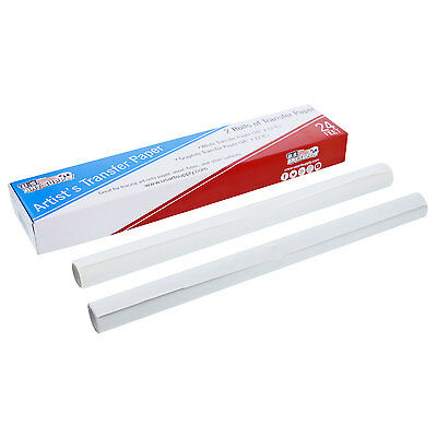 "US Art Supply White & Graphite Transfer Paper Rolls, 16"" Wide x 12ft Long"
