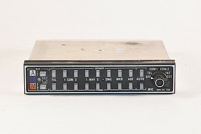 King KMA-24 Audio Panel PN 066-1055-03 SN 25790, Guaranteed
