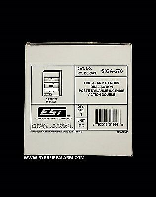 100% New Edwars Est Siga-278 Pull Station. Free Shipping!! The Same Business Day