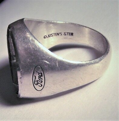 """""""Sterling"""" Silver O Jostens 1930 Ford Setting + 1 Red Coral Ring Repair"""