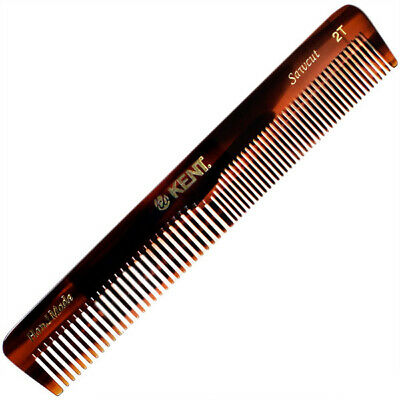 Kent 2T 158mm Medium Coarse and Fine Tooth General Grooming  Hair Comb
