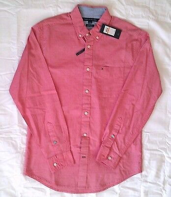 Tommy Hilfiger Men's Size Small Dress long Sleeve Classic Fit Button Down Shirt