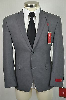 44R NEW Alfani Mens Gray SLIM FIT Flat Front 2 Piece TRAVEL Suit $495 36x30