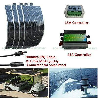 150W 12V  Flexible Solar Panel Power for 300W 600W Home Car Camping Hiking