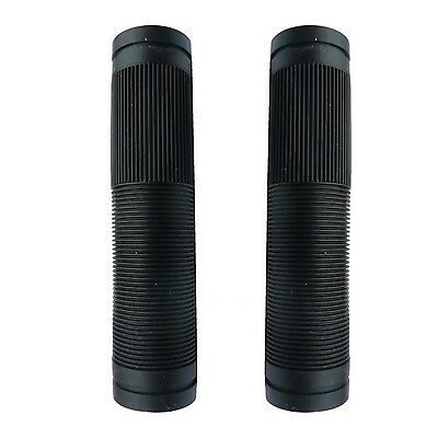 Mountain Bike Handlebar Replacement Grips BLACK Closed End 130mm Bicycle Grips