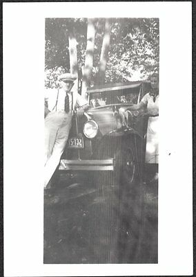 Vintage Photograph 1936 Jack Russell Terrier Dog Canada Girls Old Car Auto Photo