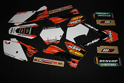 Ktm 2005-2007  Factory Fmf  Mx Graphics Kit Decals Kit Stickers