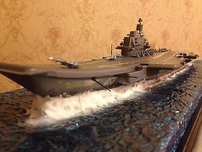Soviet/Russian Admiral Kuznetsov aircraft carrier with diorama