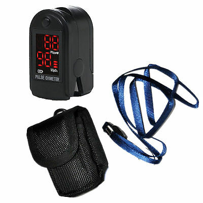 USA Fingertip Blood Oxygen Meter SPO2 PI PR LED Pulse Monitor Oximeter