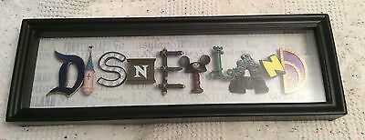 Disneyland Icon Letters Shadow Box Letter Plaque by Dave Avanzino NEW