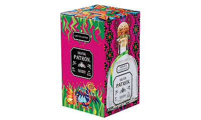 Patrón Silver Tequila Limited Edition Mexican Heritage Collector's Tin Gift Box