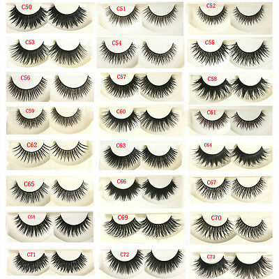 5Pairs 100% New Natural Thick False Fake Eyelashes Eye Lashes Makeup Extension p