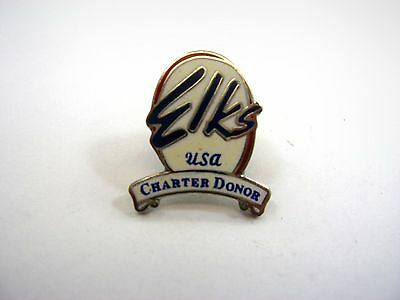 Vintage Collectible Pin: Elks USA Charter Donor
