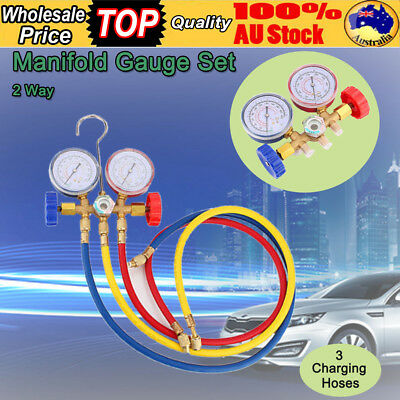 Air Conditioning AC Diagnostic Manifold Gauge Car Refrigeration Test Tool Kit