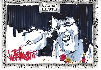 "JOE PETRUCCIO ARTIST SKETCH ""SINGING"" # 10/10 2012 Press Pass ELVIS ESSENTIAL"