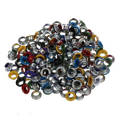 200 pcs Metal Colorful Round Eyelets/ Rivets Mixed Colors 9 mm
