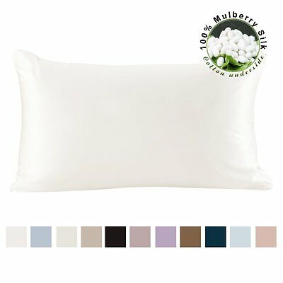 Pure Mulberry 100% Silk Pillowcase Cover for Hair with Cotton Underside LILYSILK