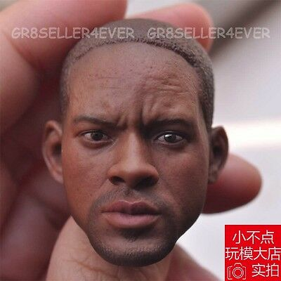 "BELET 1/6 Scale Will Smith Figure head model fit 12"" Male body Toy"