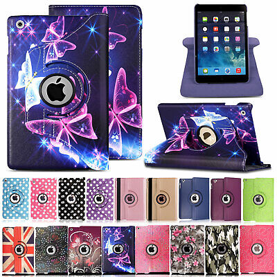 For Apple iPad 2 3 4 Mini 5 Air 3 360° Rotating Leather Smart Case Flip Cover