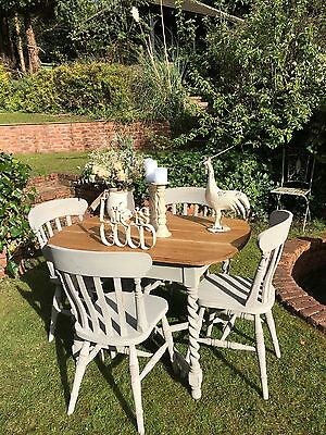 Shabby Chic Table And Chairs In Annie Sloan French Linen