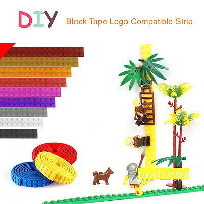 4pcs Of 1M Blocks Tape Lego Compatible Strip Brand Building Toy Childrens' Gift