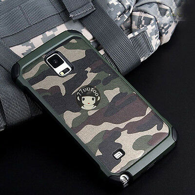 For Samsung Galaxy Note 9 8 4 5 Military Case Camouflage Camo Army Rugged Cover