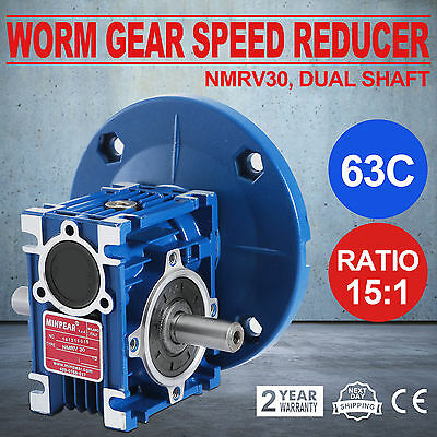 Worm Gear 15:1 63C Speed Reducer Gearbox Dual Output Shaft Active Update Pro