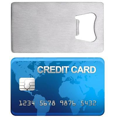 NEW Credit Card Size Bottle Opener THIN Stainless Steel For Your Wallet Cooler T