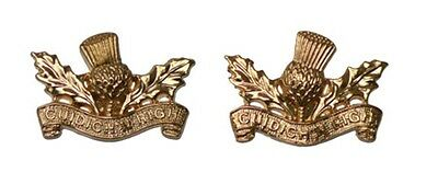 Royal Regiment Of Scotland Highlanders Collar Badges - Pair - Brand New