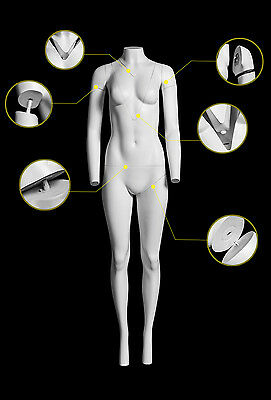 New Fibreglass Full Male Female Ghost Body For Invisible Torso Mannequin Display