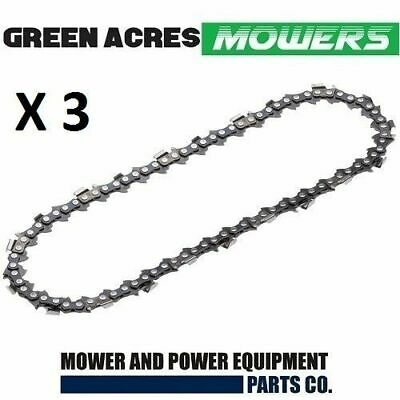 "3 X New Chainsaw Chain 10"" 40 3/8Lp .050 Suits Baumr-Ag Sx25 With 10"" Bar Pro Ch"
