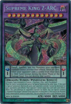 YUGIOH Supreme King Z-ARC Secret Rare MACR-EN039 1st Edition
