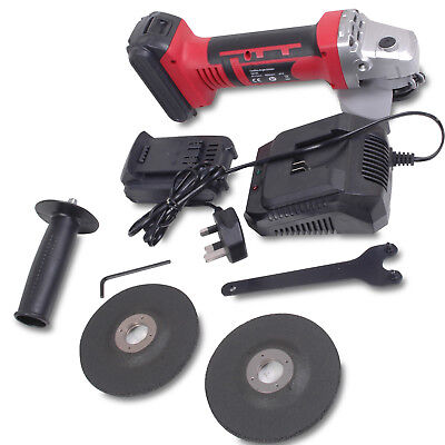 115mm 18v ELECTRIC CORDLESS PORTABLE Li-ion LITHIUM ANGLE DISC CUTTER GRINDER