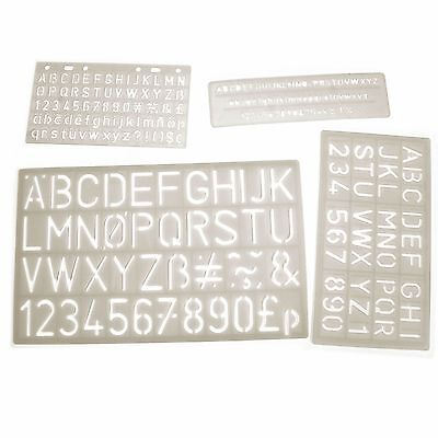 Plastic Assorted Letter, Number and Symbol Stencils Lower &Uppercase Template