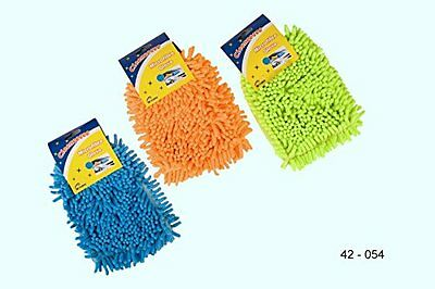 MICROFIBRE GLOVE Jumbo Noodle Cleaning Mitt Car Household Duster Random Colour