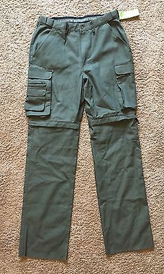 "NWT Boy Scouts (BSA) Canvas Uniform Convertible Pants 32"" Unhemmed-FREE SHIPPING"
