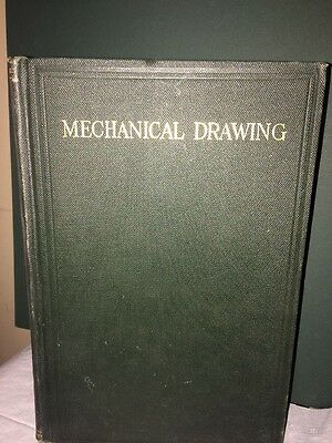 Mechanical Drawing Antique Book 1920. First Edition!