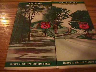 Phillips 66 Road Maps - (2) - 1940