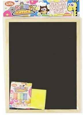 New Quality A4 Kids Children Chalk board learn to write clean wipe with chalks