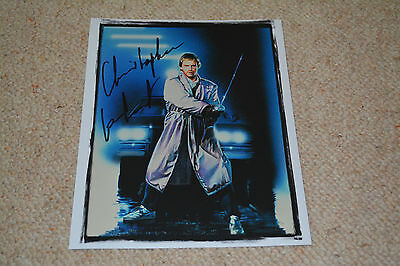 CHRISTOPHER LAMBERT signed Autogramm 20x25 cm In Person HIGHLANDER